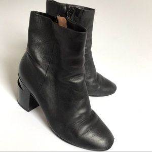 37 1/2 CLERGERIE ANKLE BOOTS HEELS SHOES LEATHER